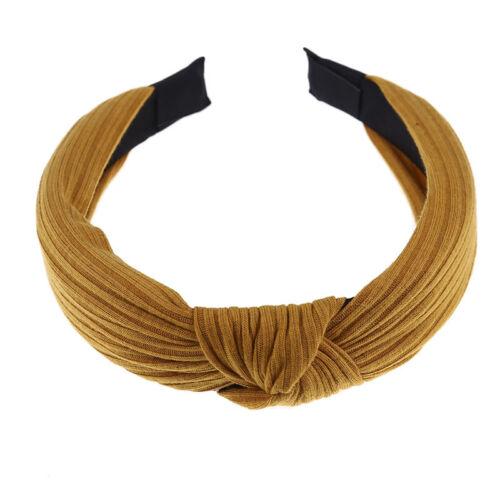Frauen Mädchen Yoga elastische Haarband Knoten Stirnband Kopfwickel Haar Rei Neu