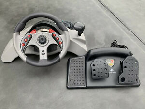 Playstation Mad Catz MC2 Racing Steering Wheel w/ Pedals #8020