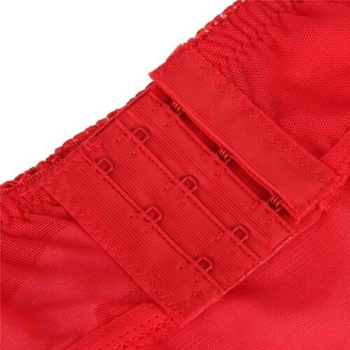 Details about  /Sexy High Waist Black Red 6 Strap Suspender Belt Set Size 8 10 12 14 16 18 20 22