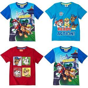 Boys-Kids-Children-Paw-Patrol-Short-Sleeve-Tee-T-Shirt-T-shirt-Top-age-2-8-years