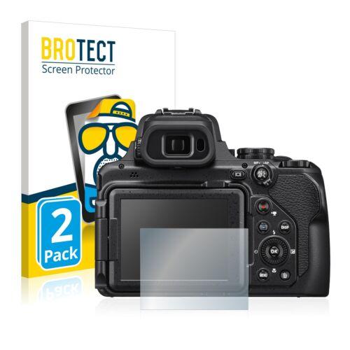 2x Nikon Coolpix p1000 láminas protectoras de pantalla mate antirreflejos