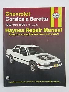 haynes chevrolet corsica beretta 1987 thru 1996 repair manual rh ebay com Service Manuals Yamaha Service Manuals PDF