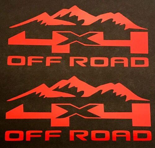 4X4 OFF ROAD DECALS STICKER FORD F-150 CHEVY SILVERADO DODGE RAM TOYOTA TACOMA