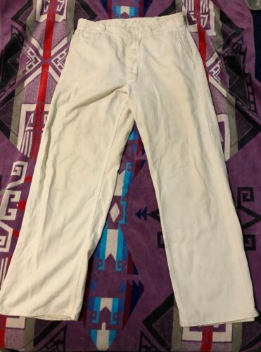 Vintage White work pant 40's 50's Military? Chino