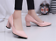 Womens-Pointed-Toe-Court-Pumps-High-Heels-Shoes-Block-Kitten-Spring-OL-Slip-On thumbnail 7