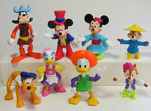 LOOSE-SET-8-McDonald-039-s-1994-MICKEY-EPCOT-ADVENTURE-Toys-MOUSE-Disney-COMPLETE