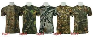 Mens-Camouflage-Tree-Print-Camo-T-Shirt-Hunting-Shooting-Outdoor-Short-Sleeves