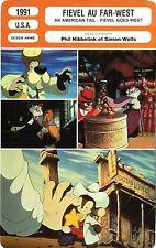 Fiche Cinéma. Movie Card. Fievel au Far-West/Fievel goes West (USA) 1991