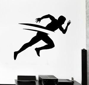 Wall Decal Running Man Sports Fitness Health Marathon ...