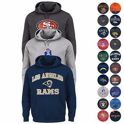 NFL Assortment of Full Zip & Pullover Hoodie Collection for Men by MAJESTIC