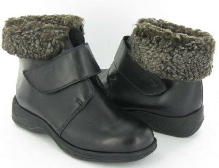 MARTINO POLAR Black Leather Waterproof Winter BOOTS Women's 6 NEW IN BOX