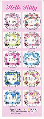 Hello Kitty Schmerzen Haben Japan 3614-3623 = Kleinbogen Aus 2004 Mi.-nr