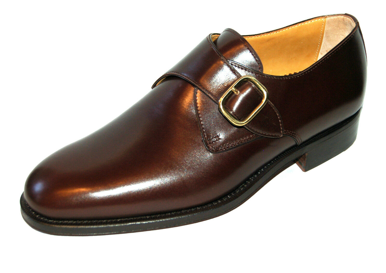 MAN BUCKLE DERBY - CALF 5048 HEAD BROWN - LEATHER SOLE + BLAKE CONSTRUCTION