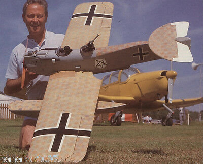 "Model Airplane Plans (RC): Hansa Brandenburg W29 1/8 Scale 62"" Floatplane"