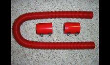 "Red 36"" Street Rod Flexible Stainless Steel Radiator Hose Kit SHOW DISPLAY"