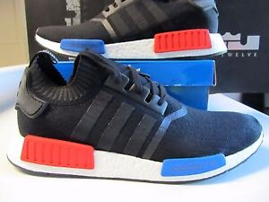 558a31b7bb311 Adidas NMD R1 Runner PK PRIMEKNIT Core Black Red Blue OG 13 S79168 ...