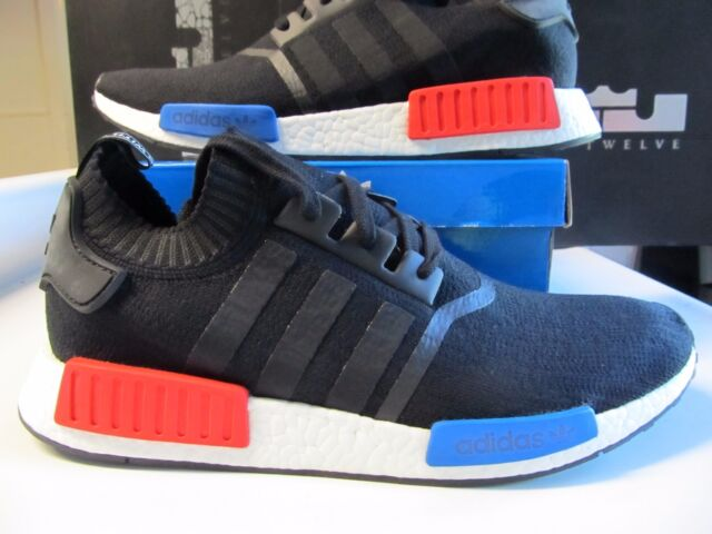 huge discount 6a8d4 53490 Adidas NMD R1 Runner PK PRIMEKNIT Core Black Red Blue OG 13 S79168 ultra  Boost