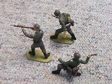 Elastolin 70mm WW2 German Wehrmacht Infantry x3 Lot 2