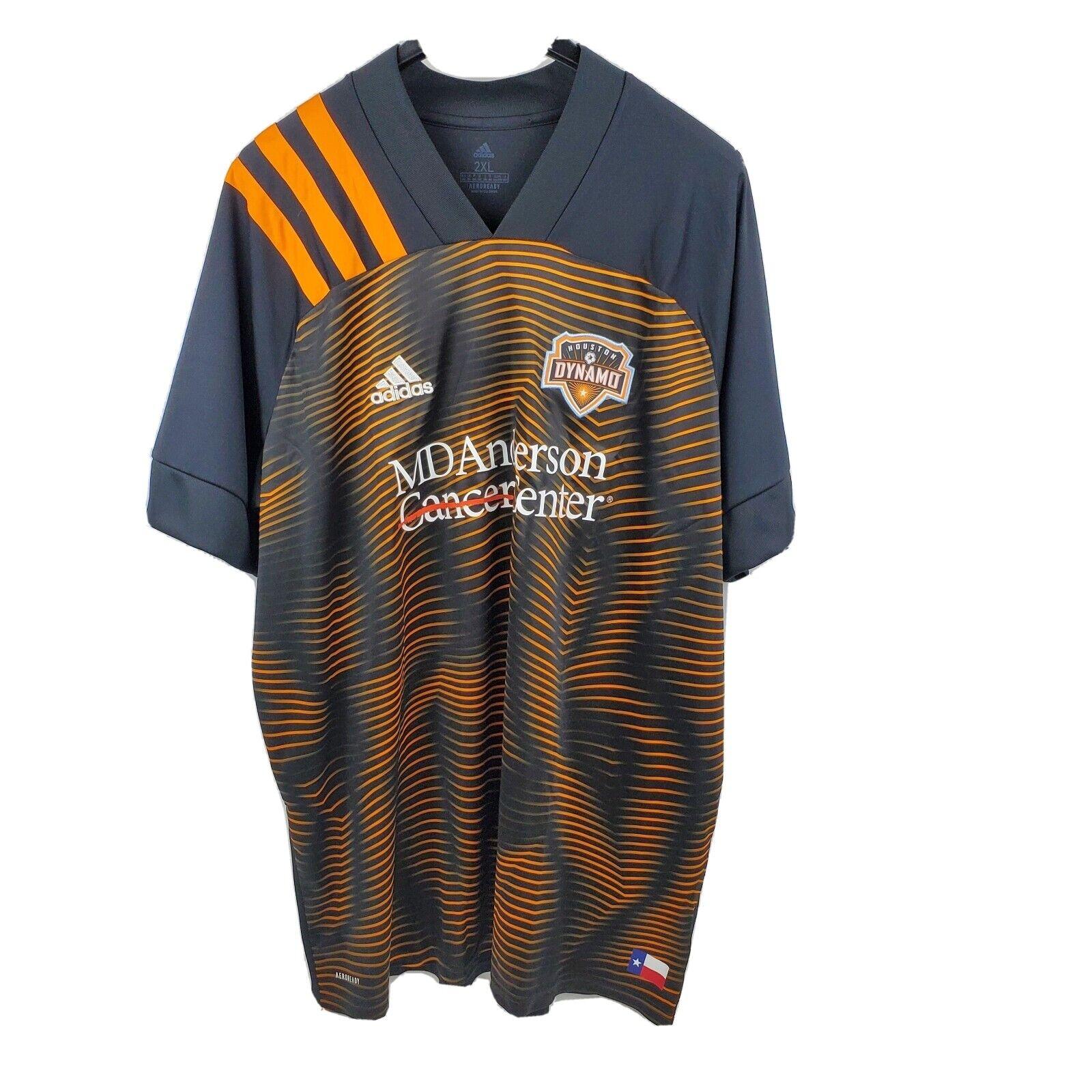 adidas Men 2020-21 Houston Dynamo Away Jersey Eh8638 Brown Orange ...