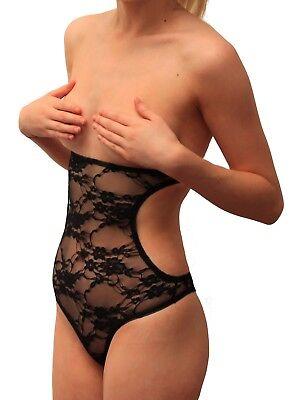 Xs Xxl Cutaway Mesh Lace Cut Out Body Belly Stocking Dance Net