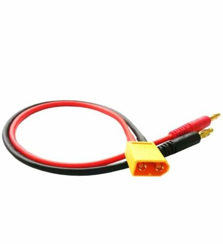4mm banana plugs to X60 adapter lead for lipo /& imax chargers and more