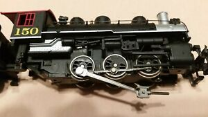 HO-Scale-Bachmann-0-6-0-NC-and-STL-Steam-Engine-with-Three-Cars