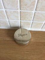 antique vintage silver plate epns sugar pill box Rare Trinket Box