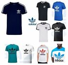 New Mens Adidas Originals Crew Neck Trefoil Cotton Tee T-Shirt Top Size S M L XL