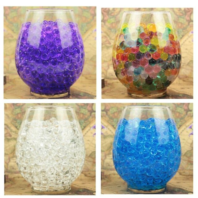 5000pcs Jelly Beads Water Plant Flower Crystal Soil Mud Water Pearls Gel Balls