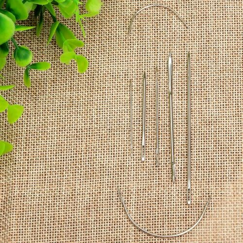 Hand Needles Canvas Leather Carpet Repair Craft Sewing Stitching Upholstery 7pcs