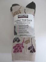 Kirkland Signature Ladies Trail Socks Extra Fine Merino Wool Women 4 Pairs Ivory