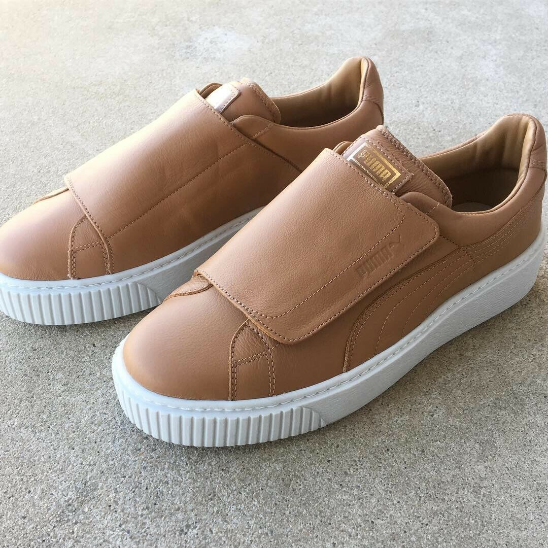 NWOB Puma Basket Platform Big Strap Womens Sneakers Size 9.5