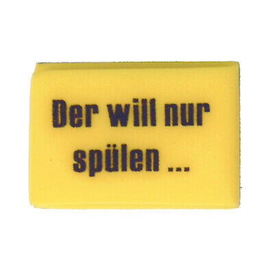 Spülschwamm Profi Spüler Schwamm Topfschwamm Spruch lustig Küchen Abwasch