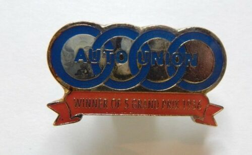 Auto Union Racing Team Pin Badge Winner Of 5 Grand Prix 1936