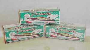 THREE-VICTORIA-TIN-BOATS-STEAM-POWERED-WITH-BOX-OLD-UNUSED-STOCK