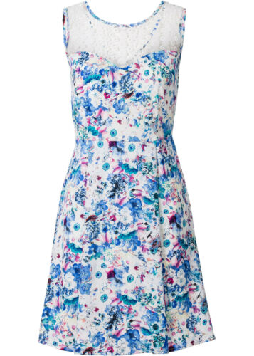 38 Hübsches Kleid mit Muster in Bunt Q2129-945151 Gr