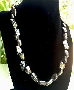Elite-Shungite-Necklace-Noble-Tumbled-Shungite-Nugget-Necklace-Chain-Karelia