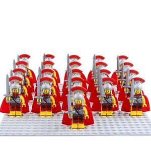 21PCS Ancient Roman Fighter Gladiatus Heavy Infantry Army Building Block DIY Toy