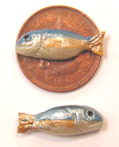 1:12 Scale 4 Loose Fish In A Bucket With Ice Tumdee Dolls House Shop Accessory I