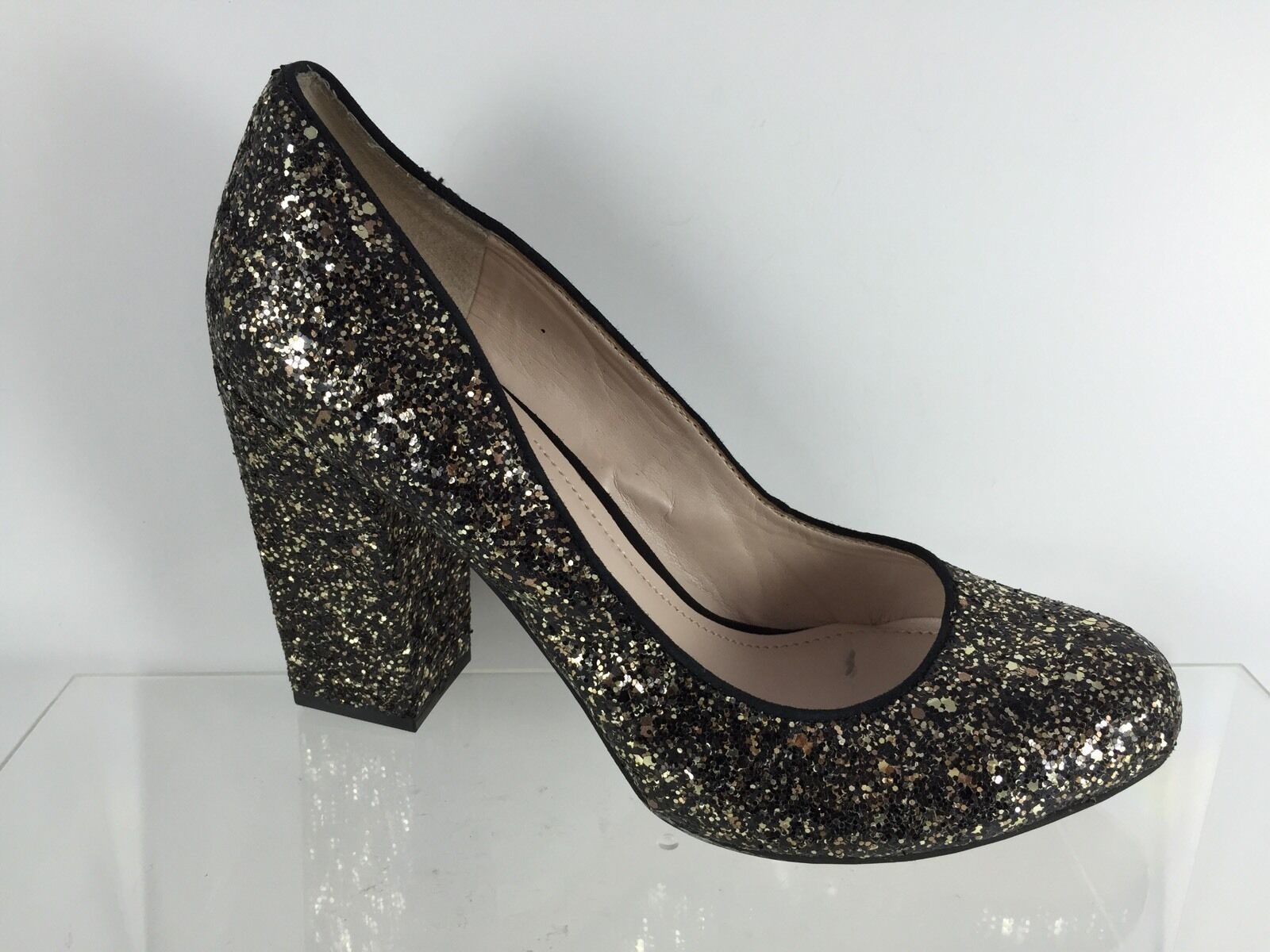 Vince Camuto Womens Black gold Glittered Heels 7.5 M
