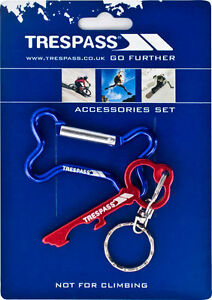 NEW-Trespass-Key-Ring-Key-Opener-Bone-Shape-Red-Blue-Survival-Outdoor-FAST-amp-FREE