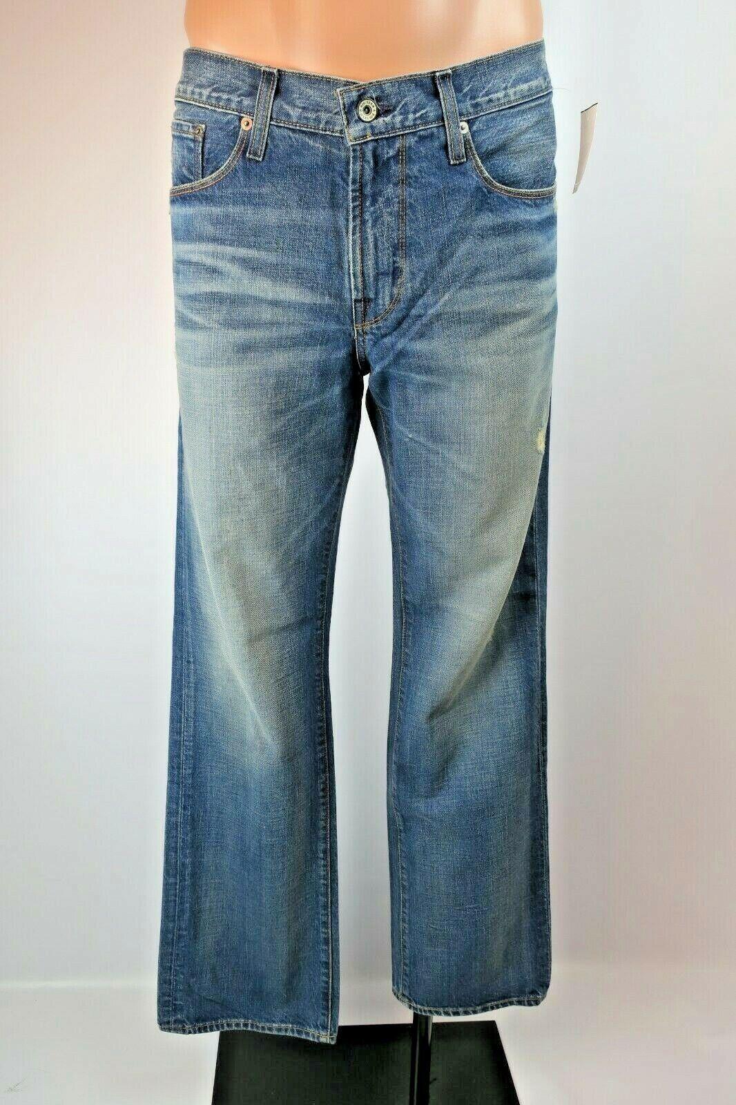 c1e5ccd4 BIG STAR Union Straight Jeans Mens SAMPLES 34x31 Distressed Denim Wash NWT