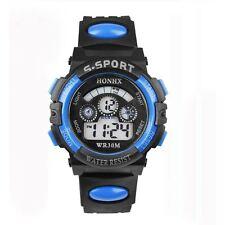 Honhx Kids Boys Girls Digital Sport Watch Blue Stopwatch Alarm Date UK Seller