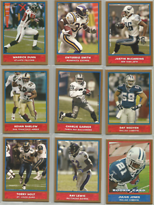 2004-Bazooka-Gold-Lot-9-Different-Ray-Lewis-Warrick-Dunn-Julius-Jones-RC