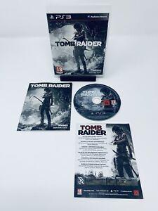 Tomb Raider (Sony PlayStation 3, 2013, PS3, Region Free, Game, Manual)