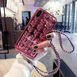 For-iPhone-XS-MAX-XR-8-7-3D-Gasbag-Heart-Rubber-Phone-Case-With-Hand-Rope-Cover