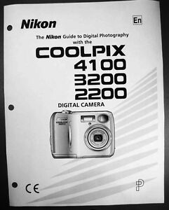 nikon coolpix 2200 3200 4100 digital camera user guide instruction rh ebay com