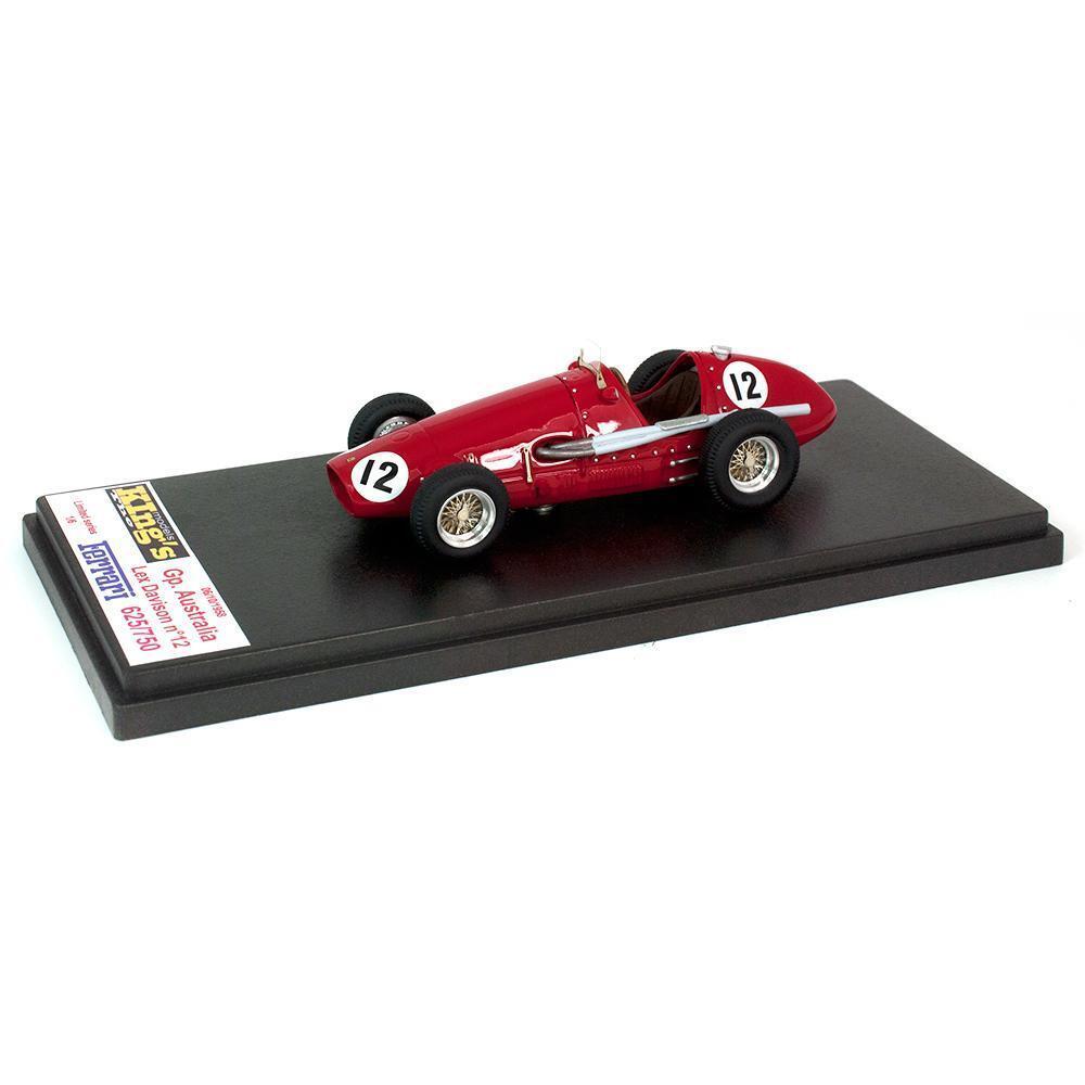Kings Models 1 43 1958 Ferrari 625 750 Australian GP Winner  Lex Davidson