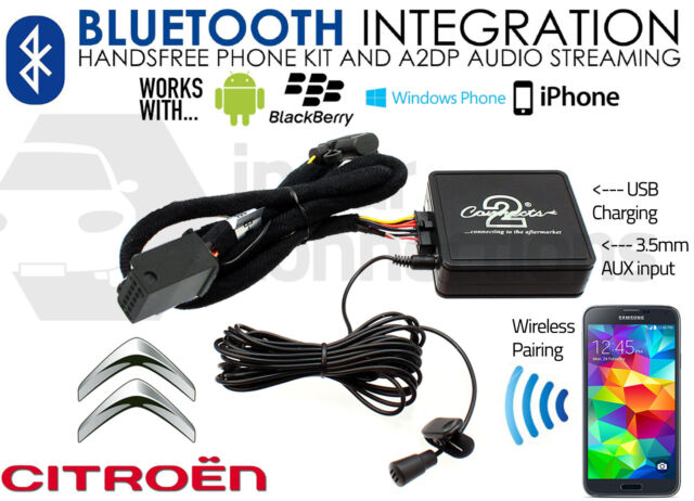 Citroen C2 Bluetooth adaptor 2006 On Streaming music handsfree calls CTACTBT002