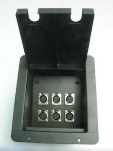 Procraft pro audio recessed stage floor pocket box 6 xlr for Xlr floor box